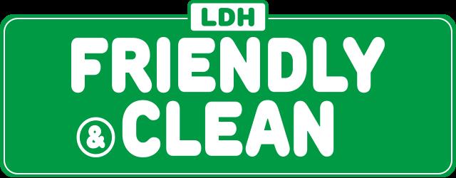 FRIENDLY & CLEAN バナー