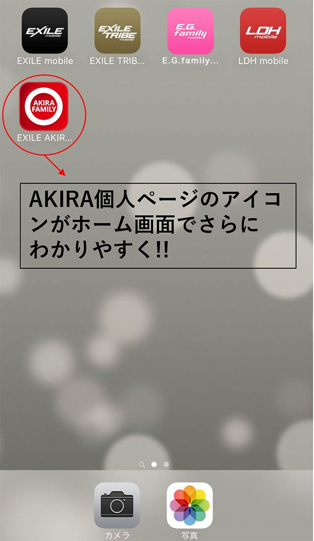 AKIRA アイコン 例