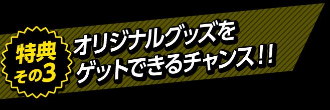 特典その3 オリジナルグッズをゲットできるチャンス!!